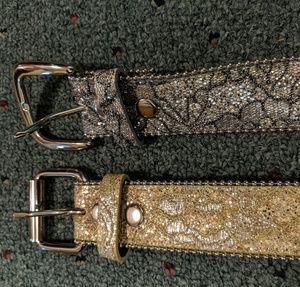 Gold and Silver Tilt Belt